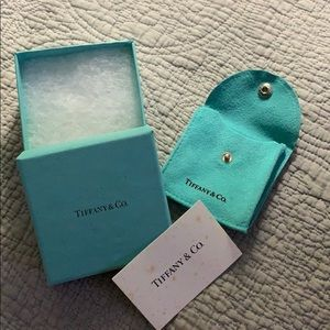 Authentic Tiffany box, pouch, & silver care card.